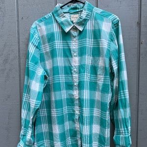 G.H. Bass & Co. Cotton Plaid Shirt
